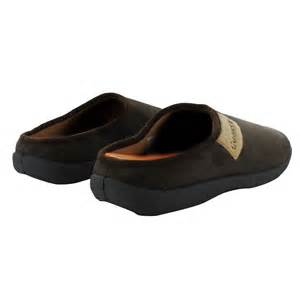 mens slippers open back shoes mule coolers slip on flat