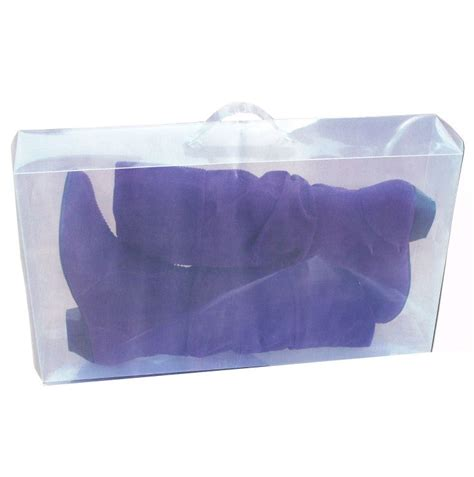 Transparant Shoes Box4 clear plastic knee high calf boots storage box