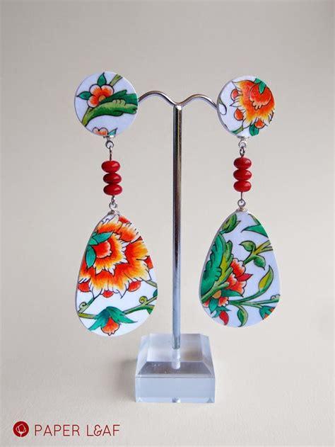 Paper Earrings Tutorial - 1000 ideas about paper earrings on paper
