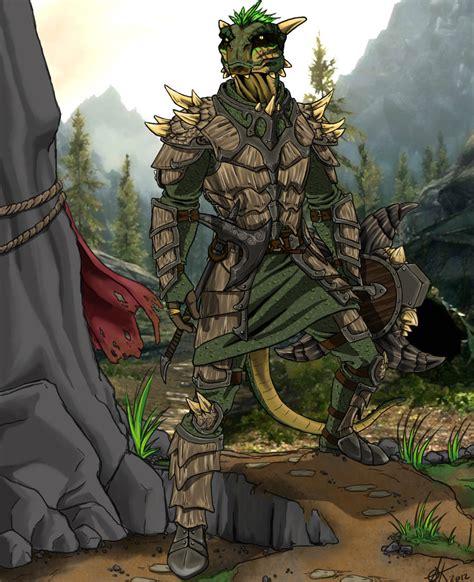 skyrim argonian fan art argonian warrior by canius on deviantart