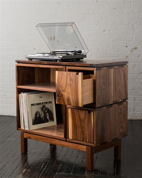 Record Player Tables by Walnut Record Player Stand