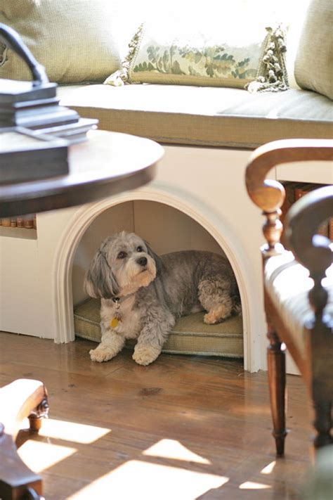 dog window bench stylish built in dog beds and kennels driven by decor