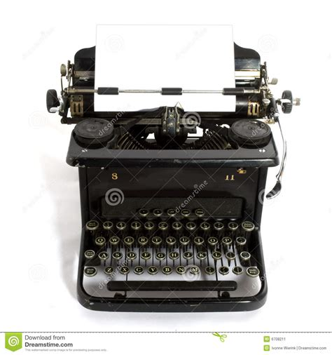 old fashioned typewriter stock image image 6708211