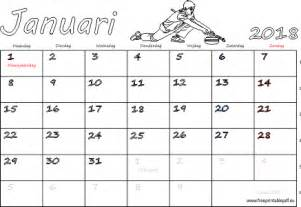 Kalender 2018 Januari Februari Kalender Januari 2018 Met Weeknummers Gratis Printbare Pdf