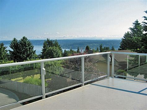 Glass Patio Railing Systems by Residential Glass Railing Gallery Glass Railing Ideas