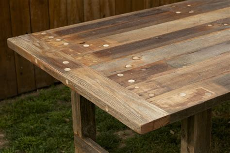 outdoor dining table wood arbor exchange reclaimed wood furniture weathered