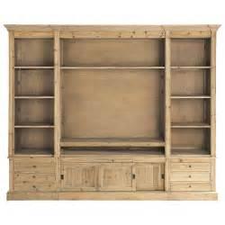 biblioth 232 que tv en bois massif recycl 233 l 264 cm passy