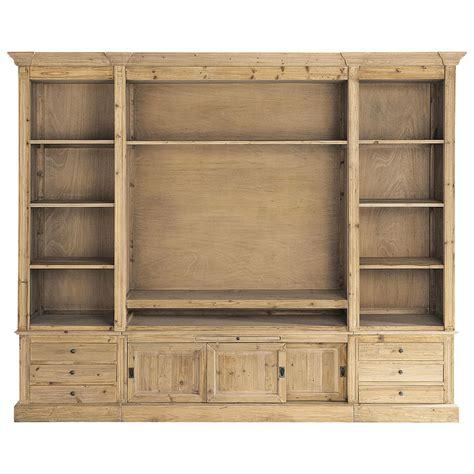 meubles bibliotheque biblioth 232 que tv en bois massif recycl 233 l 264 cm passy maisons du monde