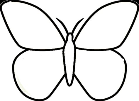 easy to draw clipart easy butterfly clipart clipartxtras