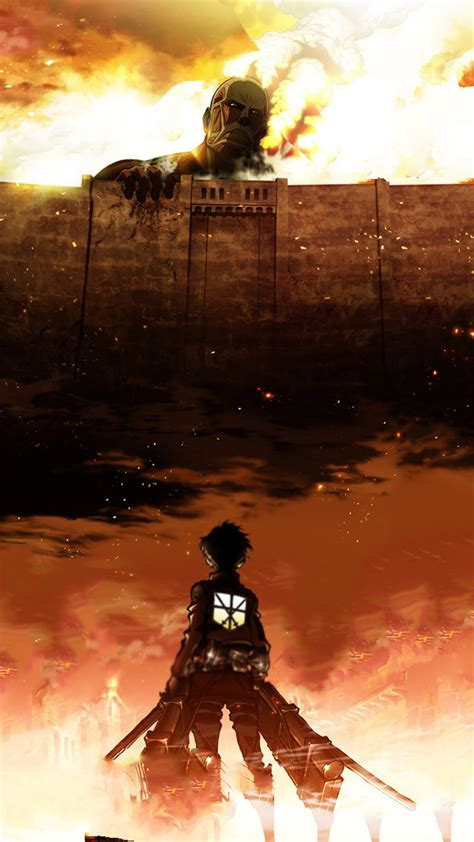 hd background attack on titan anime series wallpaper