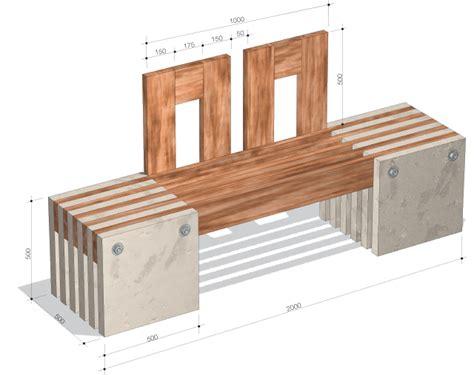 Gartenbank Aus Beton Und Holz