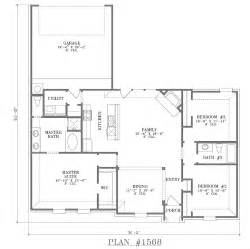 Open Floor Plan House Plans One Story Rear Garage House Plans Smalltowndjs Com