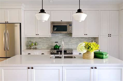 white kitchen bronze hardware turquoise glass tile backsplash contemporary kitchen