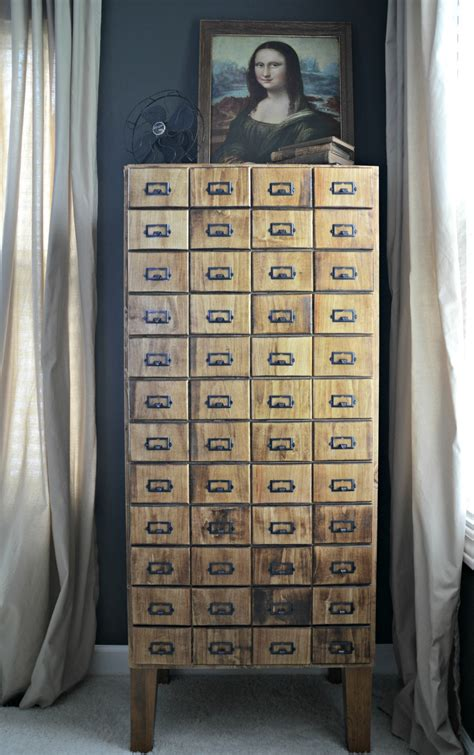 how to make a card catalog cabinet diy card catalog cabinet tutorial decor and the