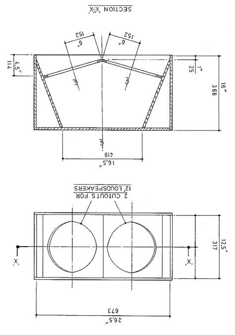diy 2x12 speaker cabinet plans plans free