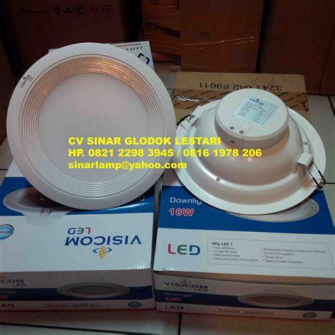 Downlight Led Panel Inbow Masuk Plafon 6watt Bulat Cahaya Putih 1 Downlight Led Visicom 18w