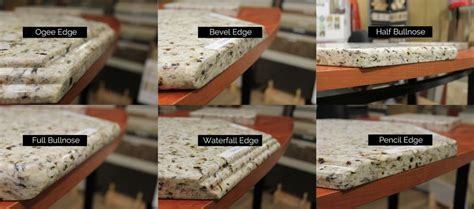 Types Of Granite Countertop Edges by Six Types Of Granite Edge Profiles For The Kitchen