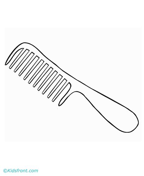 coloring page hair brush hair brush coloring page coloring pages