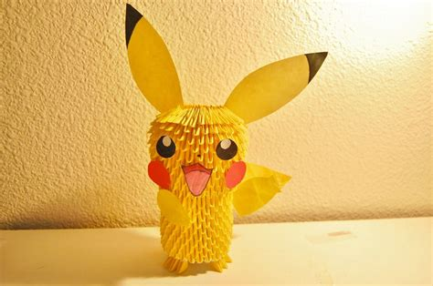 Origami Pikachu 3d - 3d origami pikachu by ibeautylovely on deviantart
