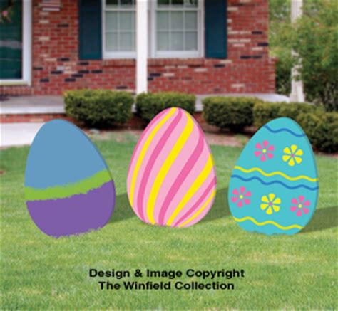 easter color posters easter eggs woodcraft pattern set