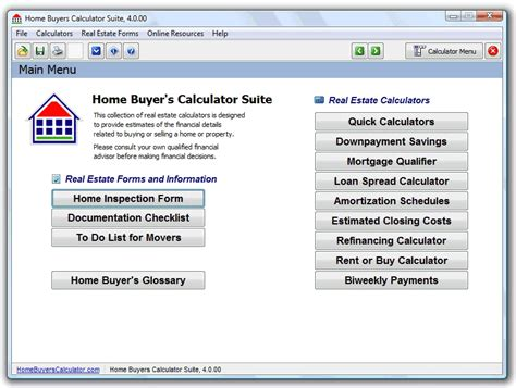 house buying calculator home buyers calculator suite calculate the financial scenarios related to buying a