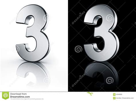 Sr 2598 Black the number 3 on white and black floor stock photo image