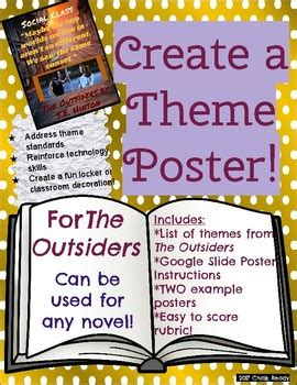 themes of the outsiders novel theme poster project the outsiders by chalk ready tpt