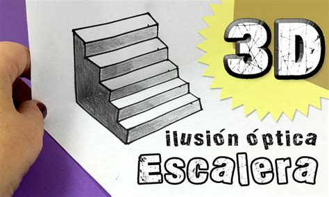 ilusiones opticas para dibujar faciles ilusiones 211 pticas escalera en tres dimensiones 3d youtube