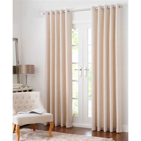 b m curtains b m colorado hopsack fully lined eyelet curtain 90 x 90