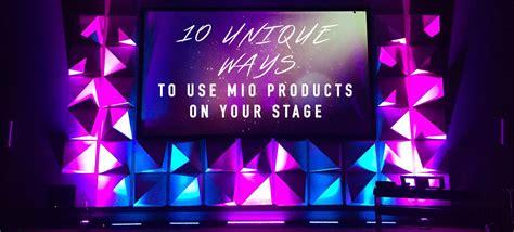 unique ways   mio products   stage church
