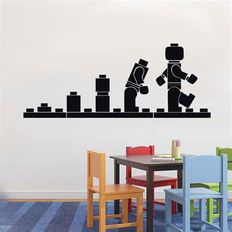 lego wall decals for rooms lego evolution decal wall sticker home decor vinyl stencil st54 ebay
