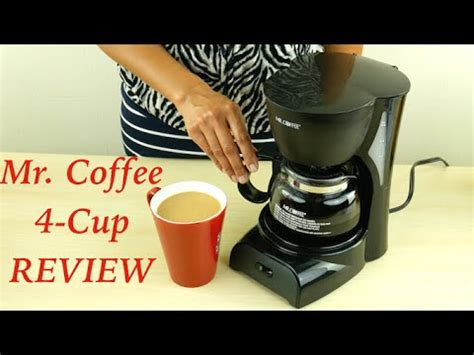 mr coffee 4 cup coffee maker review youtube