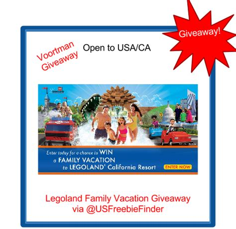 Today Show Vacation Giveaway - giveaway enter to win a legoland california family vacation from voortman cookies