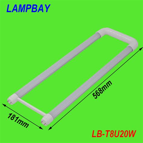 U Shaped Fluorescent Bulbs by 4 Pack Free Shipping U Shaped T8 Led Tube 2ft 20w Milky