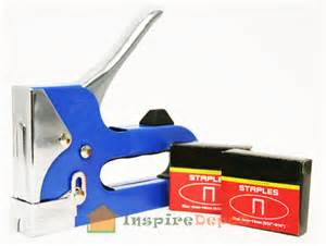 3 way heavy duty stapler staple gun upholstery wood