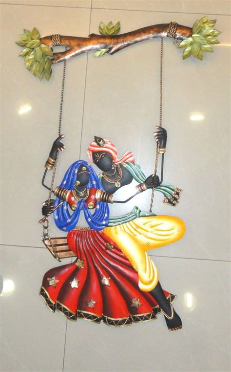 Buy Home Decor Items Online India radha krishna metal wall hanging in gunfoundry hyderabad