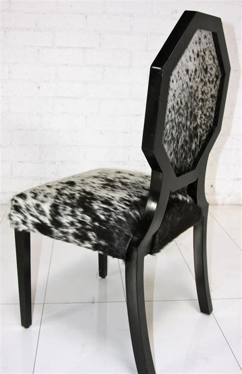 Www roomservicestore com cowhide octagon dining chair