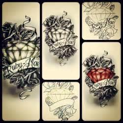old inspired diamond and rose design tattoo com