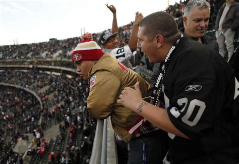 sf 49ers fan store raiders niners fans mellowed by of football