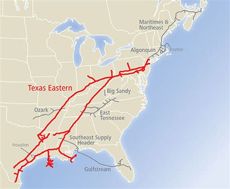 texas pipeline map link informational postings