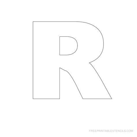 printable large letter r printable stencil letters free printable block letter