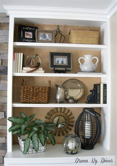 Driven By Decor by Diy Project Burlap Backed Bookcases Driven By Decor