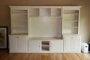 built cabinets: center is custom built using six different pieces it is built