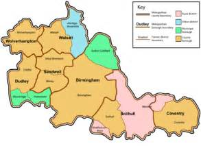 west county map west midlands county