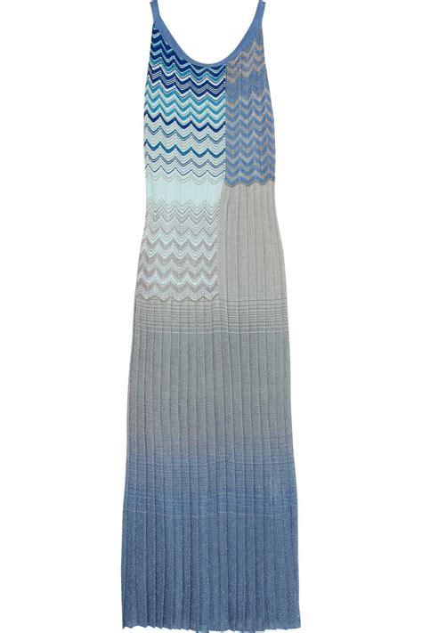 knit maxi dresses missoni s metallic crochet knit maxi dress all