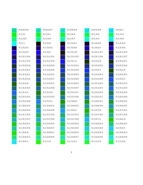 rgb color table alpha rgb color table images
