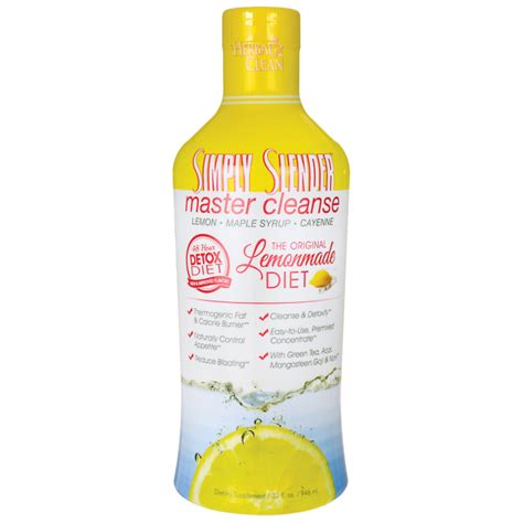 Lemonade Cleansing Detox by Herbal Clean Simply Slender Master Cleanse Lemonade 32 Fl
