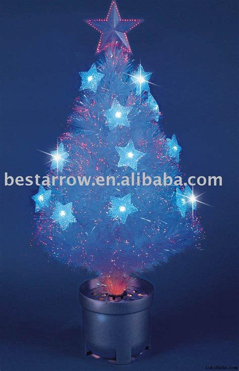 white fibre optic christmas tree
