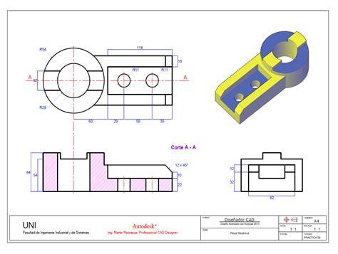 imagenes en 3d autocad practica de clase autocad 3d n 176 5 para el 15 de diciembre