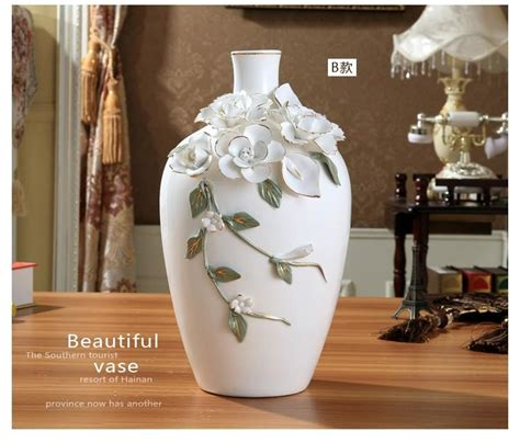 ceramic white modern flowers vase home decor large